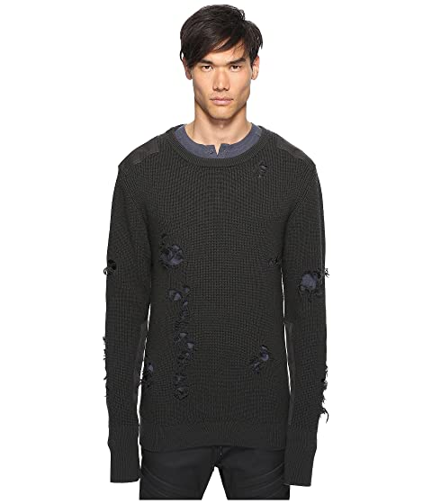 7e3465f8f6d7b adidas Originals by Kanye West YEEZY SEASON 1 Destroyed Wool Sweater ...