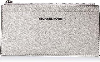 محفظة بطاقات للنساء من مايكل كورس، رمادي لؤلؤي - 34F9SF6DL7