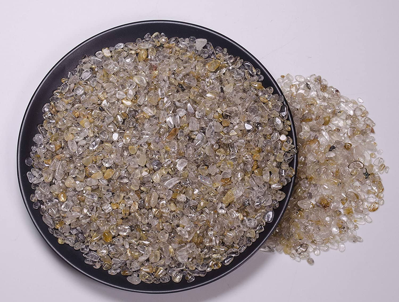 Yippee 100g Mini Tumbled Crystal Year-end annual account Chips Gravel half Quartz Gemstone fo