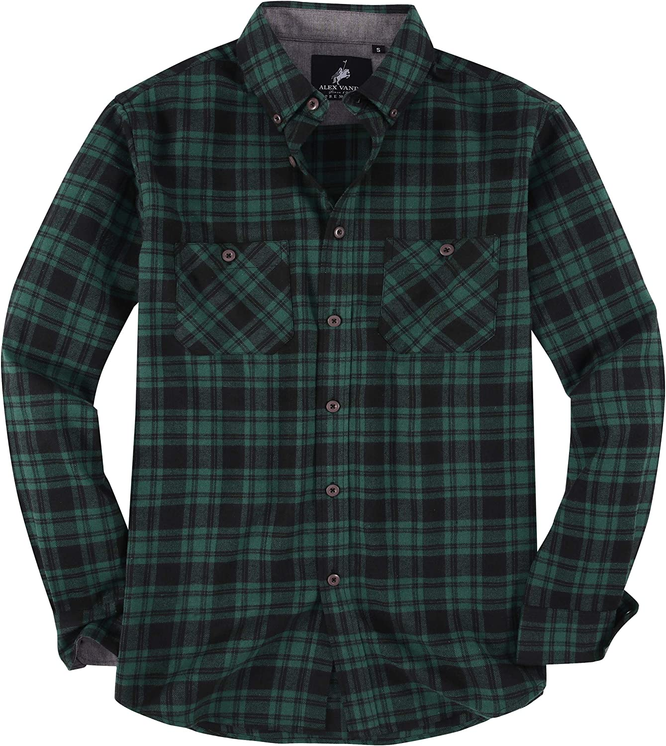 Alex Courier shipping free Vando Mens Button Down Shirts Regular lowest price Sleeve Fit Long Casua
