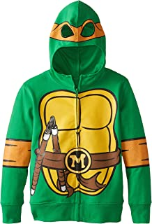 Teenage Mutant Ninja Turtles Little Boys Character Hoodie, Shell Green, 4