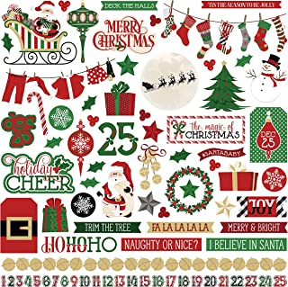Photo Play Paper Here Comes Santa Stickers 12