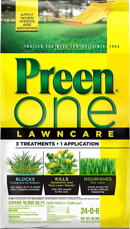 Preen 超歓迎された 2164168 One LawnCare Weed Feed 10 sq. 36 2020秋冬新作 000 lb-Covers