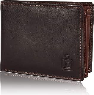 Le Craf Men's Alferd Brown Genuine Leather RFID Blocking Wallet