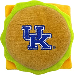 NCAA Kentucky Wildcats Cheese Burger Plush Dog & CAT Squeak Toy - Cutest Stadium HAMBERGER Snack Plush Toy for Dogs & Cats...