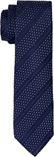 Van Heusen Men's Dot Stripes Tie, Navy