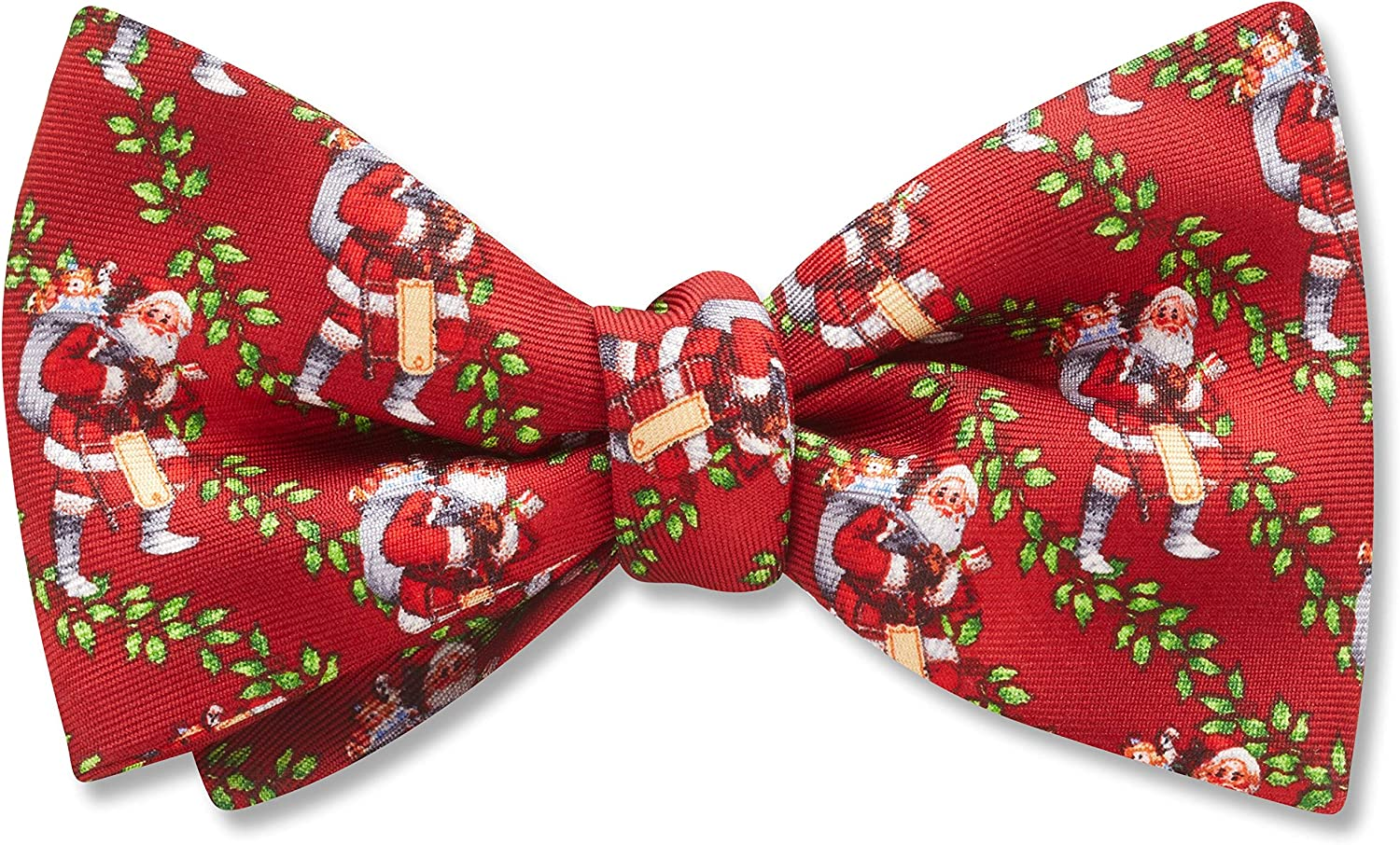 Pere Noel Red Conversational, Men's Bow Tie, Handmade in the USA