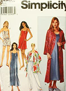 Simplicity 8666 Sewing Pattern Misses Slip Nightgown Camisole Robe Pajamas Size 6 - 16 Bust 30 1/2 - 38
