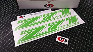UNDERGROUND DESIGNS Z71 Off Road Decal Chevy Fender Tailgate Sticker 2014-2018 Select Color: (Monster Lime Green)