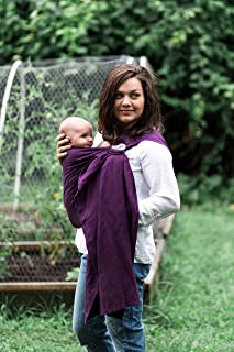 Bibetts Pure Linen `Plum` Ring Sling Baby Carrier - US safety compliant - Infant, Toddler and Baby Carrier
