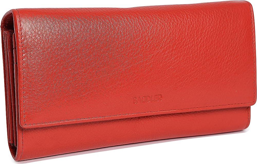 Saddler portafoglio porta carte di credito da donna in pelle SADDL-2044-RED