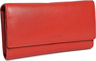 comprar comparacion SADDLER Billetera y Monedero Concertinas de 19cm y Con Solapa Para Mujeres - Rojo