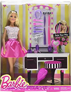 Koehler 12010570 13.25 inch Barbie Style Your Way Doll and Playset