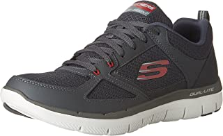 (6 UK, Grey (CHARCOAL/Red)) - Skechers Men's 52189 Trainers