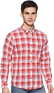 Pepe Jeans Men Red Casual Shirts