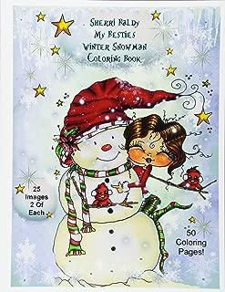 Sherri Baldy My-Besties Winter Snowmen Coloring Book