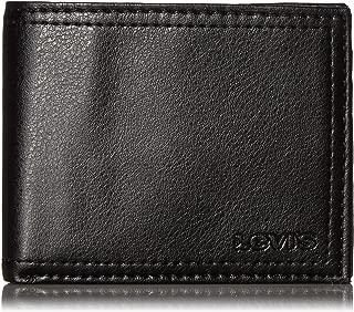 Levi's Men's Extra Capacity Slimfold Wallet, Black, One Size