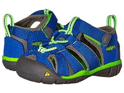 Keen Kids Seacamp II CNX (Toddler) (Blue/Jasmine Green) Kids Shoes