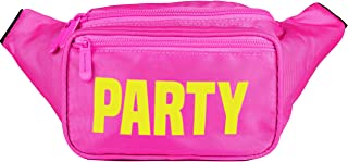SoJourner Bum Bag Fanny Pack Neon Party - Pink | for women, men and kids | cute fits small medium large