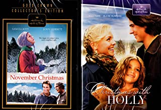 Christmas with Holly , November Christmas Hallmark Gold Crown Collector's Edition : 2 pack