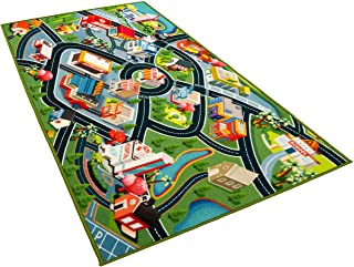 Kids Carpet Playmat Rug - Fun Carpet City Map for Hot...