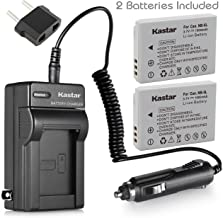 Kastar NB-5L Battery (2-Pack) and Charger for Canon PowerShot S100, S110, SD700, SD790, SD800, SD850, SD870 IS, SD880, SD890, SD900, SD950, SD970 IS, SD990 IS, SX200 IS, SX210 IS, SX220 IS, SX230 HS