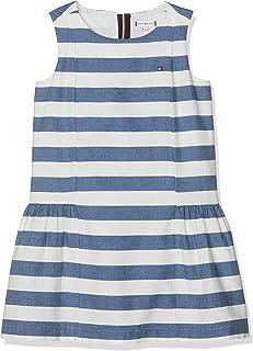 Tommy Hilfiger girls ICONIC CHAMBRAY SLEEVELESS Dress