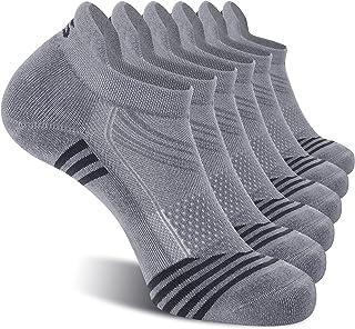 CelerSport 6 Pack Ankle Running Socks for Men Low Cut Athletic Sports Socks