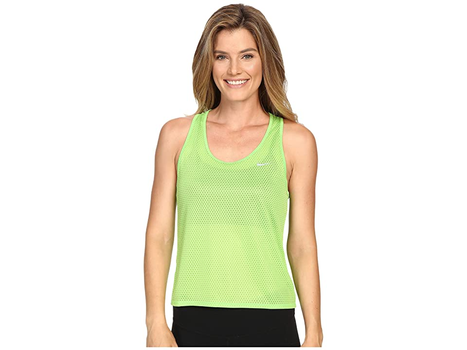 Nike Run Fast Tank Top (Action Green/Reflective Silver) Women
