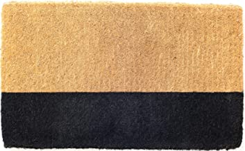 45 cm x 75 cm 100% Coir Doormat Welcome Entry Mat Black Belt