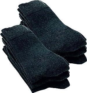 GAWILO Lot de 6 paires de chaussettes d'affaires pour homme - 94 % coton - Avec semelle intérieure en éponge amortissante...