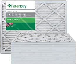 FilterBuy 20x25x1 MERV 8 Pleated AC Furnace Air Filter, (Pack of 12 Filters), 20x25x1 – Silver