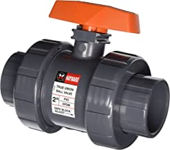 Hayward TB1200STE 2-Inch PVC TB Series Ball Valve with EPDM Seals and Socket/Threaded End Connection