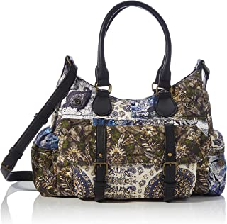 Desigual Accessories Fabric Shoulder Bag, Borsa a Tracolla. Donna, Nero, U