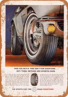 Wall-Color 7 x 10 Metal Sign - 1966 Firestone Sports Car Tires - Vintage Look