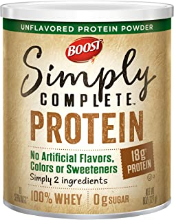 Boost Nutritional Drinks Simply Complete Powder, 8 Oz Canister, 1 pack (Packaging May Vary)