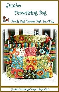 Bag Pattern Jumbo Drawstring Quilted Bag cjw-011 Carlene Westberg Designs