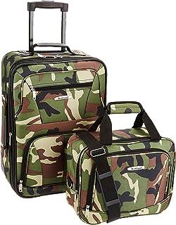 Rockland Fashion Softside Upright Luggage Set, Camouflage, 2-Piece (14/20)