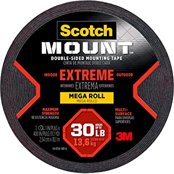 Scotch Brand Extreme Mounting Tape, 1-inch X 400-inches, Black, 1-Roll (414-LONGDC) - 414-LONG/DC