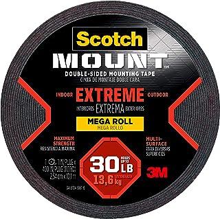 3M Extreme Scotch-Mount dubbelzijdige montagetape en -strips: 1 in. x 400 in. (Zwart)