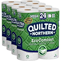 Quilted Northern EcoComfort Toilet Paper 24 Mega Rolls 2-Ply (4 Packs of 6 Mega Rolls)