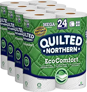 6-Packs Quilted Northern EcoComfort Toilet Paper