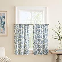 """WAVERLY Kitchen Curtains Charmed Life 52"""" x 36"""" Small Panel Tiers Privacy Window Treatment Pair Bathroom, Living Room, Cor..."""