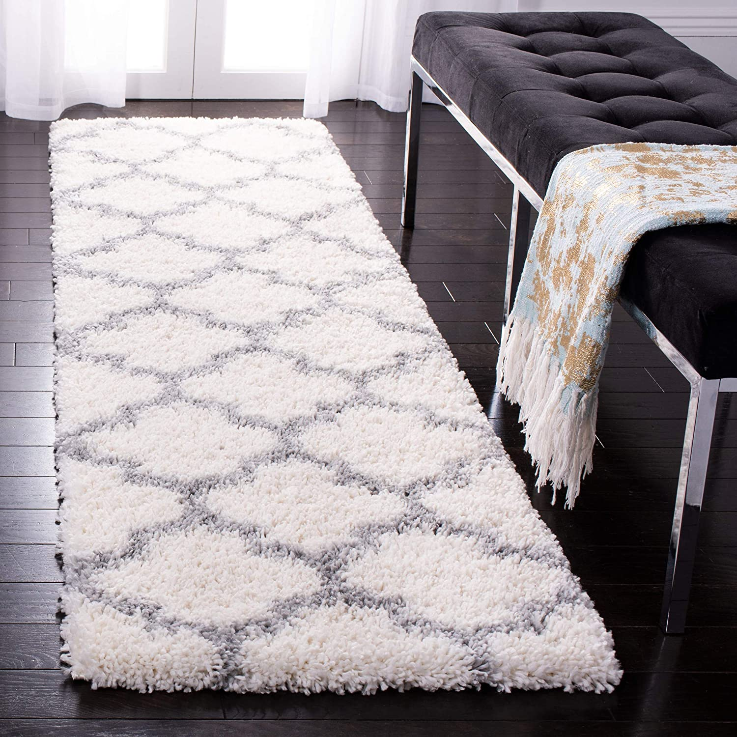SAFAVIEH Sale Our shop OFFers the best service Fontana Shag Collection Moroccan Non-Sh FNT818A Trellis