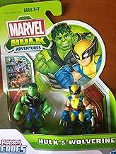 Marvel Playskool Super Hero Adventures Mini Figure 2-Pack Hulk & Wolverine