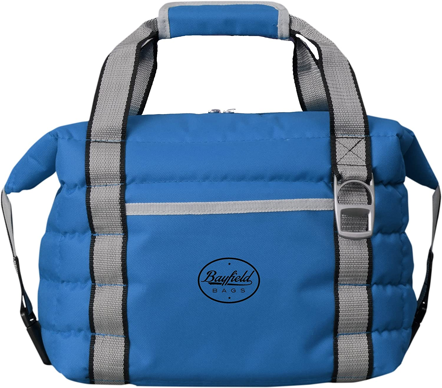 Soft Cooler Bag BougeRV 30 Cans Leakproof Soft Sided Portable Cooler Bag,2 Days Retention Cooler Tote with Bottle Opener for Lunch Beach Camping Picnic Kayak Day Trip Blue