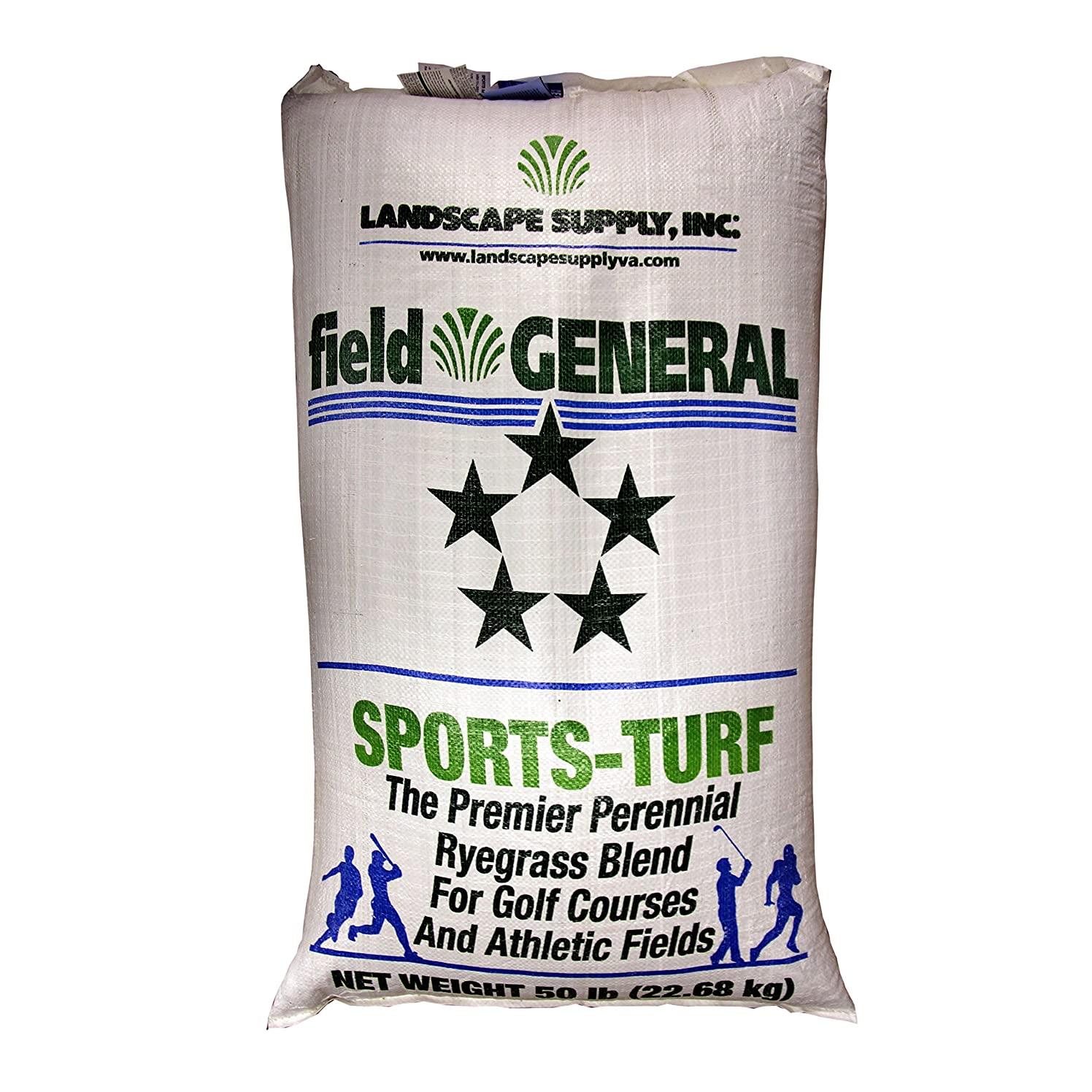 The Turf and Garden Store - Field General Sports Turf Perennial Rye Blue Tag Certified Blend, 50 Pounds