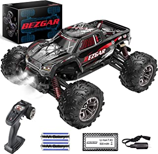 BEZGAR 5 Hobby Grade 1:20 Scale Remote Control Truck, 4WD High Speed 30+ Kmh All Terrains Electric Toy Off Road RC Monster...