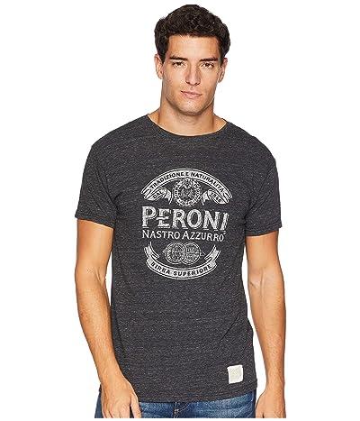 The Original Retro Brand Peroni Short Sleeve Vintage Tri-Blend Tee (Streaky Black) Men