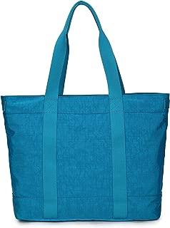 Crest Design Women handbag Tote Shoulder Bag for Laptops up to 17 inch (X-Large, Deep Sky Blue)
